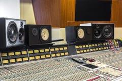 Студия звукозаписи стоковая фотография