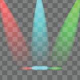 Студия и лучи света Стоковое Изображение RF