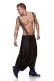 студия милого танцора мышечная представляя сексуальная Стоковые Фотографии RF