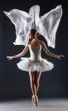Студия снятая гибкого молодого женского артиста балета Стоковое Изображение RF