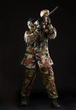Студия снятая игрока пейнтбола Стоковые Фотографии RF