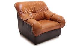 Студия снятая коричневого кожаного кресла Стоковая Фотография