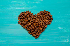 студия съемки сердца кофе фасолей Стоковое фото RF
