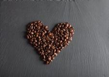студия съемки сердца кофе фасолей Стоковые Изображения RF