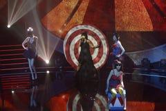 Студия тв-шоу, музыка, успех, слава, предназначенная для подростков Стоковое Изображение RF