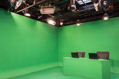 Студия телевидения Стоковое фото RF
