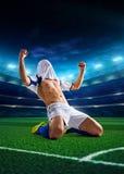 студия футбола игрока изображения действия польностью isloted Стоковая Фотография