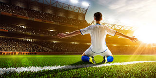 студия футбола игрока изображения действия польностью isloted Стоковая Фотография RF