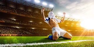 студия футбола игрока изображения действия польностью isloted Стоковое Изображение