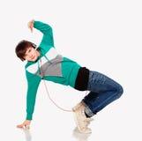 студия человека танцы Стоковая Фотография