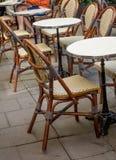 Стул на кафе Стоковые Изображения