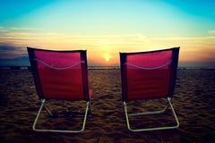 Стул на пляже Стоковое фото RF