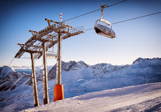 Стул подъема лыжи Стоковое Фото