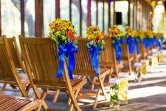 Стул свадьбы Стоковое фото RF