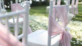 Стул свадьбы сток-видео