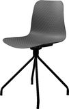 Стул серого цвета пластичный, современный дизайнер Вращающееся кресло изолированное на белой предпосылке вектор интерьера иллюстр Стоковое фото RF