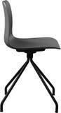 Стул серого цвета пластичный, современный дизайнер Вращающееся кресло изолированное на белой предпосылке вектор интерьера иллюстр Стоковая Фотография RF