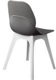 Стул серого цвета пластичный, современный дизайнер Стул изолированный на белой предпосылке вектор интерьера иллюстрации мебели Стоковое Изображение RF