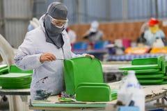 Стул фабрики и стеклоткань rowing стоковая фотография