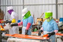 Стул фабрики и стеклоткань rowing стоковые фото