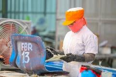 Стул фабрики и стеклоткань rowing стоковые фотографии rf