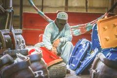Стул фабрики и стеклоткань rowing стоковые изображения