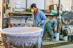 Стул фабрики и стеклоткань rowing стоковое изображение rf