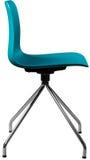Стул цвета бирюзы пластичный, современный дизайнер Вращающееся кресло изолированное на белой предпосылке вектор интерьера иллюстр Стоковые Изображения RF