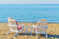 Стулы на пляже Стоковое Изображение RF