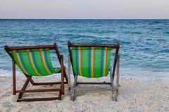Стулы пляжа Стоковое фото RF