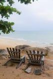 стулы пляжа 2 Стоковые Изображения