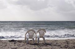 стулы пляжа 2 Стоковое Изображение