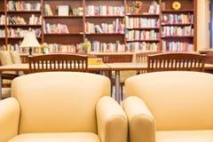 Стулья в библиотеке Стоковая Фотография