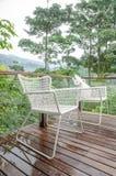 Стулья в тропическом курорте Стоковые Фото