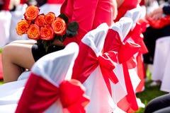 Стулья свадьбы Стоковая Фотография