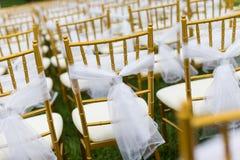 Стулья свадьбы Стоковые Изображения RF