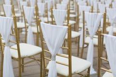 Стулья свадьбы Стоковое Изображение RF