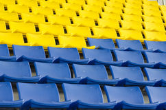 Стулья стадиона Стоковое фото RF