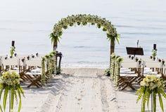 Стулья для wedding места на пляже. Стоковая Фотография