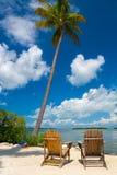 2 стуль в ключах Флориды Стоковые Изображения