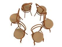 стул bentwood 3D Стоковая Фотография RF