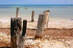 стыковка пляжа Стоковая Фотография