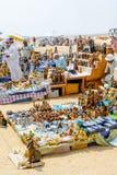 Сувенирные магазины в пустыне Гиза, Каир Египет Стоковые Изображения