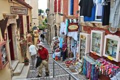 Сувенирные магазины Греции Стоковая Фотография RF
