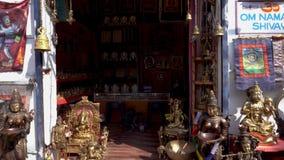 Сувенирный магазин в Индии без людей видеоматериал