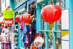 Сувенирный магазин в Лондоне Чайна-тауне Стоковое Фото