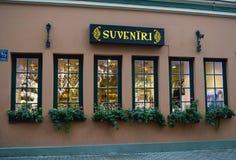 Сувенирный магазин в Риге Стоковое Изображение RF