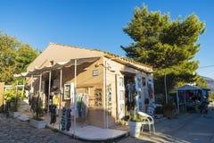 Сувенирный магазин в Scopello в Сицилии, Италии Стоковая Фотография