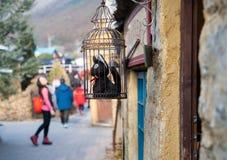 Сувенирный магазин на деревне Yufuin флористической Стоковая Фотография