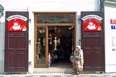 Сувенирный магазин, Прага Стоковые Фото